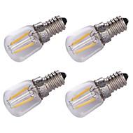 1.5W E14 Izzószálas LED lámpák 2 COB 100 lm Meleg fehér Dekoratív AC 220 V 4 db.