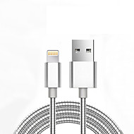 USB 2.0 Tressé Normal Câble Pour Apple iPhone iPad 98 cm Métal Aluminium