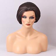 Levné krajka přední paruky pro černé a bílé ženy přirozené a pohodlné krátké rovné vlasy paruka