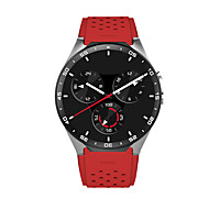 Smart Watch Quartz Silicone Band Black Red
