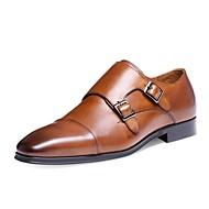 Herre-Lær-Lav hæl-Bullock sko-Oxfords-Kontor og arbeid Fritid Fest/aften-Svart Brun