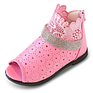 Girl's Sandals Spring Summer Fall Comfort Rubber Outdoor Athletic Casual Low Heel Pink White Walking