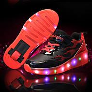 נעלי אתלטיקה-דמוי עור-להאיר נעליים-כחול ורוד שחור / צהוב-שטח יומיומי ספורט-עקב נמוך