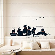 Állatok Divat Szabadidő Falimatrica Repülőgép matricák Dekoratív falmatricák,Papír Anyag lakberendezési fali matrica