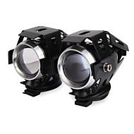 2 stk U5 12-80v 20W 2000lm motorcykel transformere laser kanon forlygter generelle modificerede førte lys