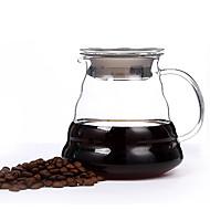 vidro set máquina de café, 3 xícaras de gotejamento cafeteira reutilizável