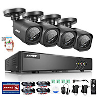 annke 8-kanaals 720p ahd dvr 4 stuks 1200tvl CCTV-camera's hd outdoor ir nacht surveillance systeem kit