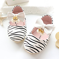 Baby Flats Spring Fall Comfort Patent Leather Outdoor Casual Flat Heel Rhinestone Magic Tape White Pink Walking