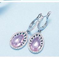 Visací náušnice Stříbro Zirkon Módní růžová + bílá Šperky Denní Ležérní 1 pár