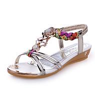 Sandale Ljeto Inovativne cipele Umjetna koža Formalne prilike Ležeran Zabava i večer Puna potpetica Štras Zlatna Srebro Hodanje