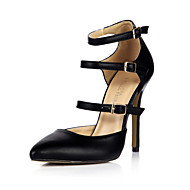 Heels Summer Club Shoes PU Office & Career Party & Evening Dress Black