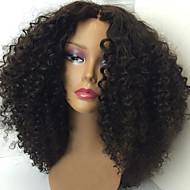 neue verworrene lockige Spitzefrontmenschenhaarperücken 100% brasilianische reine Haarperücken natürliche Farbe Spitze Front Perücke für