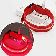 Refleksarmbånd sikkerhedslys Selvlysende bælte LED-løbearmbånd Genopladelig Komapkt Størrelse forCamping/Vandring/Grotte Udforskning