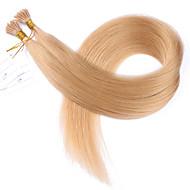 melhor cabelo virgem peruano i ponta extensões de cabelo 1g / vertente 14-26 i ponta humanos extensões de cabelo 100s / lot queratina i