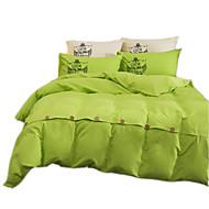 Nyhet Sengesett 4 deler Polyester Ensfarget Reaktivt Trykk Polyester Dobbel Full Dronning Konge 4stk (1 Dynebetræk, 1 Lagen, 2 Pudebetræk)