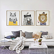 Fantasy 3D Framed Art Print Framed Canvas Framed Set Wall Art Brown Mat Included With Frame Hand Painted Abstract Animals L(53cm*73cm)XL(63cm*83cm)