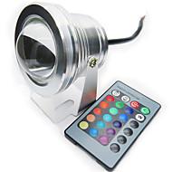 Rgb 10w levou lâmpada subaquática ip67 12 cores com ir remoto piscina luz aquário spotlight dc12v