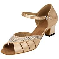 Customizable Women's Shoes Dance Shoes Satin Salsa Sandals Heels Customized Heel Professional Rhinestone Dancing Shoes