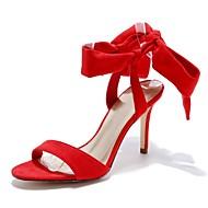 Na míru-Dámské-Taneční boty-Latina-Kůže-Vysoký úzký-Černá Červená Mandlová