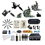 Complete Tattoo Kit 4  Machines Legend Dual Digital LED Power Supply  Liner & Shader