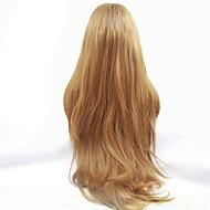 Kvinder Syntetiske parykker Blonde Front Lang Naturligt, bølget hår Rødblondt Natural Hairline Midterskilning Naturlig paryk Halloween