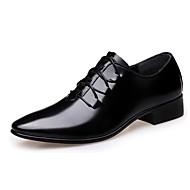 Homme Chaussures Microfibre Printemps Automne Confort Oxfords Marche Lacet Combinaison Pour Décontracté Noir