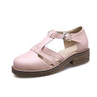 Women's Clogs & Mules Spring Summer Fall Comfort Light Soles PU Office & Career Dress Casual Low Heel Chunky Heel Block Heel BuckleWhite