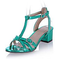 Sandály-Koženka-Pásek T Pohodlné S páskem-Dámské--Outdoor Šaty Běžné-Kačenka Block Heel