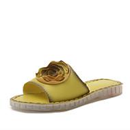 Bez podpatku-Koženka-Mary Jane-Dámské-Černá Béžová Žlutá Zelená-Šaty Běžné-Nízký podpatek