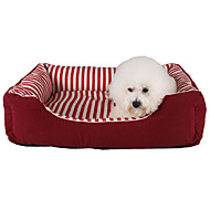 Cat Dog Bed Pets Bed Strip Fabric Black Red