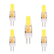 2W G4 LED Bi-pin 조명 T 1 COB 150-200 lm 따뜻한 화이트 차가운 화이트 장식 AC 12 V 5개