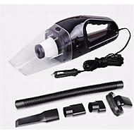120W bærbar bil støvsuger våt og tørr dobbel bruk auto sigarettenner HEPA-filter 12v svart