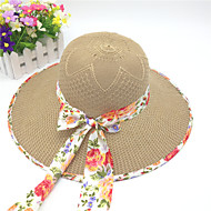 Women's   Solid   Floral  Big  Polyester Casual  Cute Straw Hat