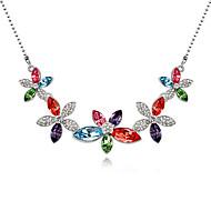 Dámské Náhrdelníky s přívěšky Šperky Flower Shape Přizpůsobeno Cute Style Duhová Růžová Světle modrá Světle zelená Šperky Pro 1ks