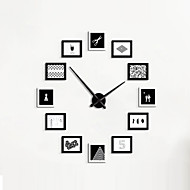 コンテンポラリー 伝統風 田園風 カジュアル レトロ風 オフィス 動物 キャラクター 休暇 抽象風 家族 友達 漫画 壁時計,長方形 ノベルティ柄 ガラス メタル ウッド 120*120 屋内/屋外 クロック