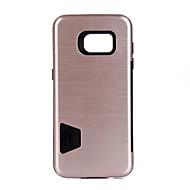 Para Porta-Cartão Antichoque Capinha Capa Traseira Capinha Cor Única Rígida PC para Samsung S7 edge S7 S6