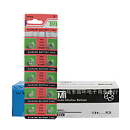 TMI AG4 Coin & Button Cell Cardon Zinc Battery 1.55V 20 Pack
