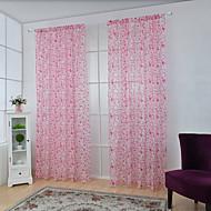Um Painel Tratamento janela Neoclassicismo Europeu , Xadrez Sala de Estar Poliéster Material Sheer Curtains Shades Decoração para casaFor