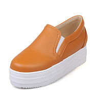 Women's Sneakers Spring Fall Creepers Comfort Light Soles Leatherette Athletic Dress Casual Creepers Walking