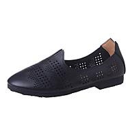 נשים-נעלי ספורט-דמוי עור-בלרינה-שחור בז'-שמלה יומיומי-עקב שטוח