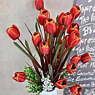 1 ענף סיב צבעונים פרחים לשולחן פרחים מלאכותיים