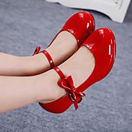 Серебряный Красный Розовый-Девочки-Для прогулок Повседневный-Полиуретан-На низком каблуке-Обувь для девочек-Топ-сайдеры