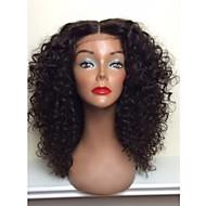 뜨거운 판매! 아기 머리를 가진 여성을위한 100 % 브라질 인간의 머리카락 전체 레이스 가발 자연 빈 변태 곱슬 전체 레이스 가발