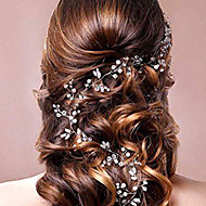 100CM Length Pearl Crystal Headpiece-Wedding Special Occasion Headbands Head Chain 1 Piece