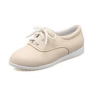 Damen-Sneaker-Büro Kleid Party & Festivität-PU-Flacher Absatz-Club-Schuhe-Weiß Schwarz Beige Gelb