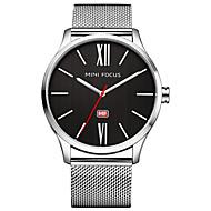 Men's Dress Watch Fashion Watch Quartz Stainless Steel Band Black Silver Gold Navy Rose Gold