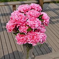 1 Tak Kunststof Pioenen Bloemen voor op de grond Kunstbloemen