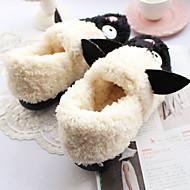 Girls' Boots Spring Winter Creepers Cotton Casual Flat Heel Animal Print Walking
