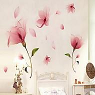 Цветы Наклейки Простые наклейки Декоративные наклейки на стены,Винил материал Украшение дома Наклейка на стену