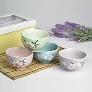 vysoce kvalitní japonská švestka květ navržený keramický jídelní miska nádobí jednu sadu se čtyřmi barvami